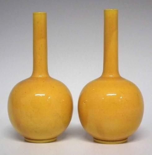 Lot 224-Pair of Burmantofts vases.