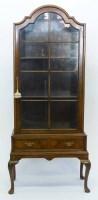 664 - Walnut display cabinet.
