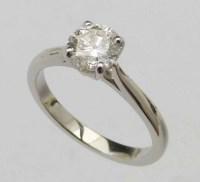 Lot 317-Single stone diamond ring, 1.04ct , J, VVS