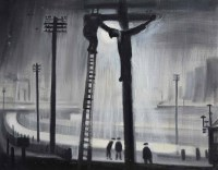 379 - Theodore Major, Crucifixion, Wigan, oil.