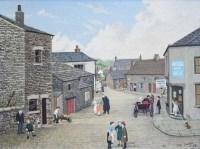 414 - Tom Dodson, The Village - Chipping near Preston, oil.