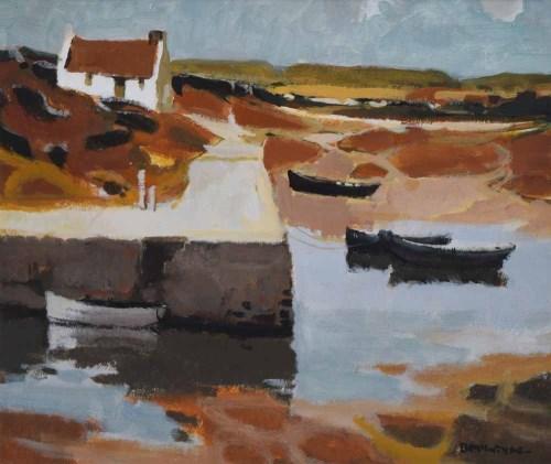 Lot 484-Donald McIntyre, Dolan, Porthmadog, acrylic on board.