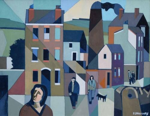 Lot 489 - Peter Stanaway, Austerlands Chimney, Saddleworth, acrylic.