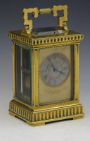 637 - French brass carriage clock.