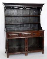 677 - Oak dresser mid 18th century,