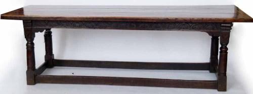 678 - Oak refectory table