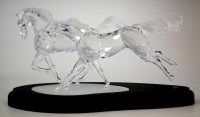 76 - Swarovski Glass Wild Horses model group, number