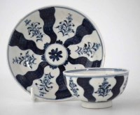97 - Lowestoft teabowl and saucer circa 1780  painted