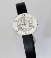 298 - Carrtier white gold (750) Love wristwatch,