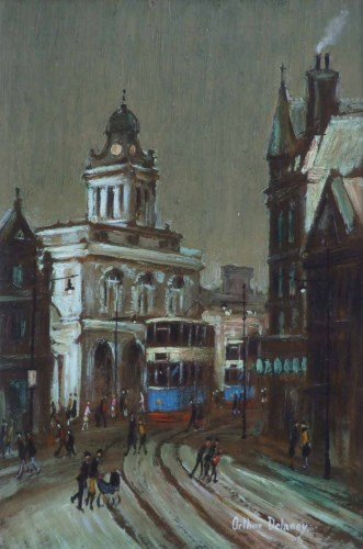 306 - Arthur Delaney, High Street, Sheffield, oil.