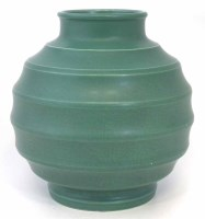 245 - Wedgwood Keith Murray green vase.