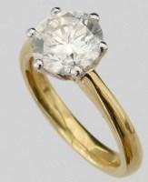 Lot 339-Single stone diamond ring, 3.02ct, brilliant cut