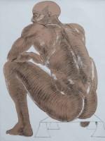 520 - Elizabeth Frink, Nude, signed lithograph.
