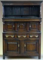 591 - Oak tridarn mid 18th century,