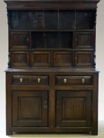 593 - Oak Denbigh dresser mid 18th century,