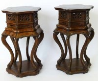 347 - Pair of 19th century hardwood stands.