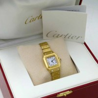 460 - Cartier yellow gold Santos Carree small automatic
