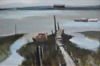 492 - Donald McIntyre, Mersea Island, Essex, acrylic.