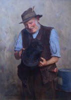 629 - Charles Spencelayh, Antiques, oil.