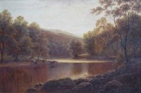 647 - William Mellor, On The Wharfe, Bolton Woods, Yorkshire, oil.
