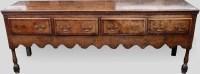 712 - George III oak dresser.