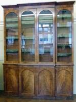 721 - William IV mahogany bookcase.