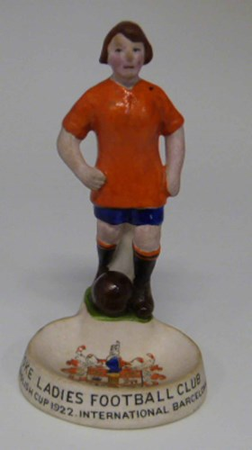 27 - Stoke ladies football club figurine to be advised.