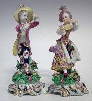 87 - Pair of Bow figures circa 1765, modelled as a