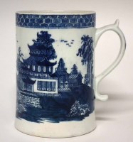 134 - Lowestoft tankard circa 1770, printed with