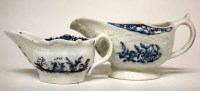 Lot 136-Two Lowestoft creamboats circa 1770,   with