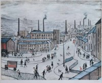 468 - After L.S. Lowry, Huddersfield, signed limited edition print.