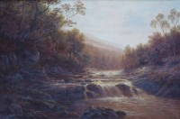 479 - William Mellor, On The Wharfe, Bolton Woods, Yorkshire, oil.