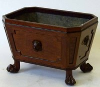 557 - Regency mahogany wine cooler c1820.
