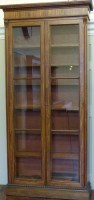 566 - Regency mahogany bookcase.