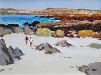 431 - Donald McIntyre, Rocks and Sand, Iona, acrylic.