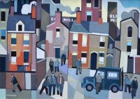 439 - Peter Stanaway, The Elk Mill, Royton, acrylic.