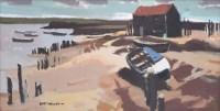 443 - Donald McIntyre, Evening Sussex Coast, acrylic.