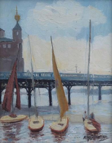 455 - Roger Hampson, Marine Lake, Southport, oil.