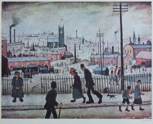 Lot 505-After L.S. Lowry, View of a Town, signed print.