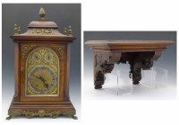 562 - 19th century German bracket clock.