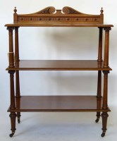 635 - Victorian oak three tier buffet.