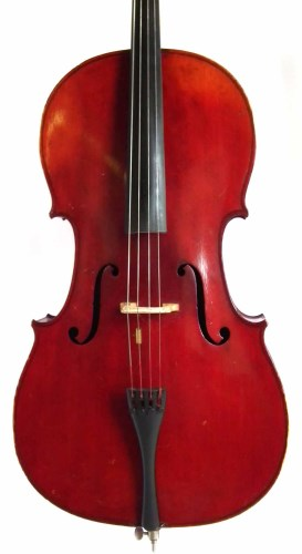 Lot 30-J.T.L. cello with bow and case.