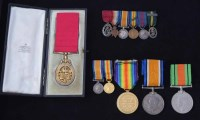 31 - The Most Honourable Order of the Bath, Civil Division breast badge and other medals.