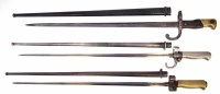 34 - Three French Gras/Chasse pot bayonets and