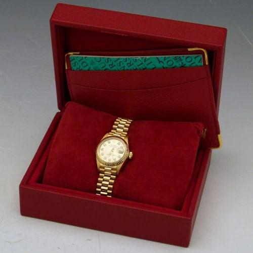 Lot 264-Rolex 18K gold Oyster Perpetual DateJust superlative chronometer
