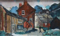 290 - William Turner, The Joiner's Shop, Mottram-St-Andrew, oil and a signed book (2).