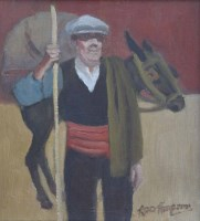 291 - Roger Hampson, Smuggler, Andorra, oil.
