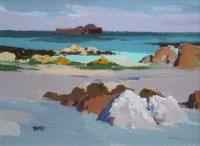 306 - Donald McIntyre, Staffa, acrylic.