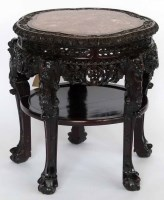 436 - 19th century Chinese hardwood table.
