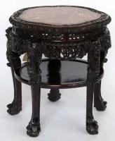 436 - 19th century Chinese hardwood table.